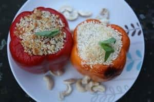 vegan risotto stuffed peppers