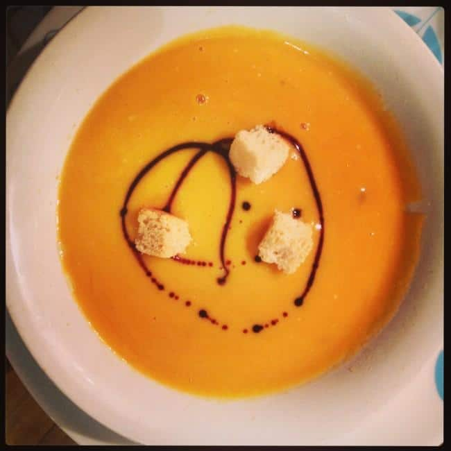 Roasterd butternut squash soup