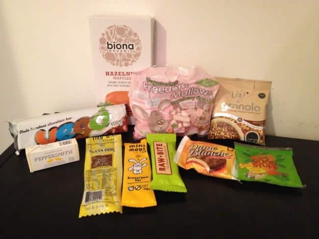 vegan tuck box contents