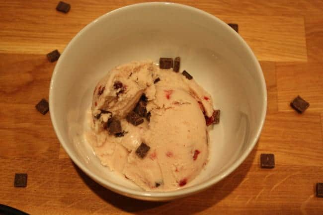 Vegan amaretto, cherry & chocolate chunk ice cream