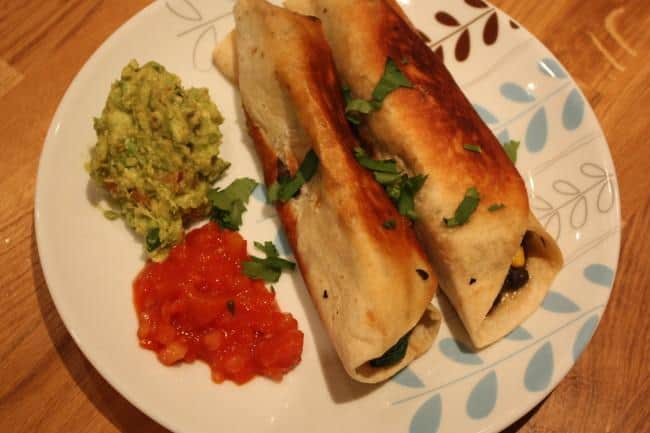 Post image for Black Bean, Courgette & Corn Flautas