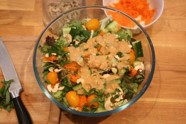 Post image for Salad with Asian-Inspired Creamy Peanut Dressing