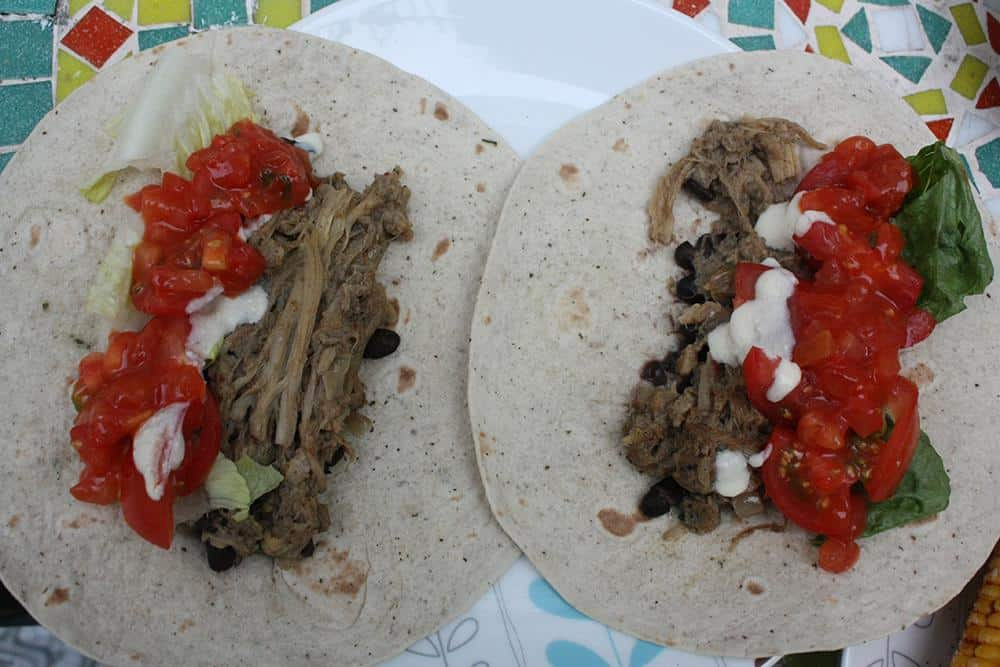 Hearts of palm carnitas tacos