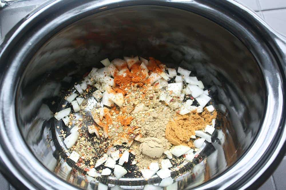 Spices for carnitas tacos, vegan style