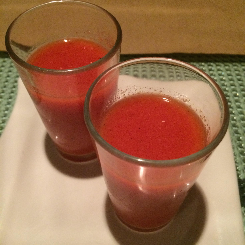 smoked watermelon gazpacho