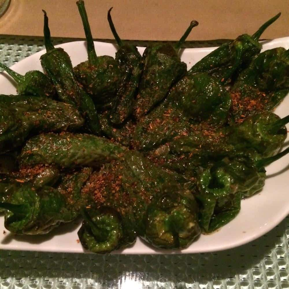 Padron peppers with chilli, lime and sea salt