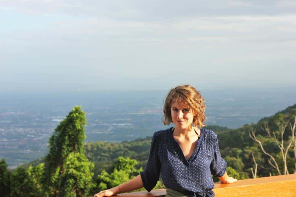 Charlie at temple overlooking chiang mai thailand