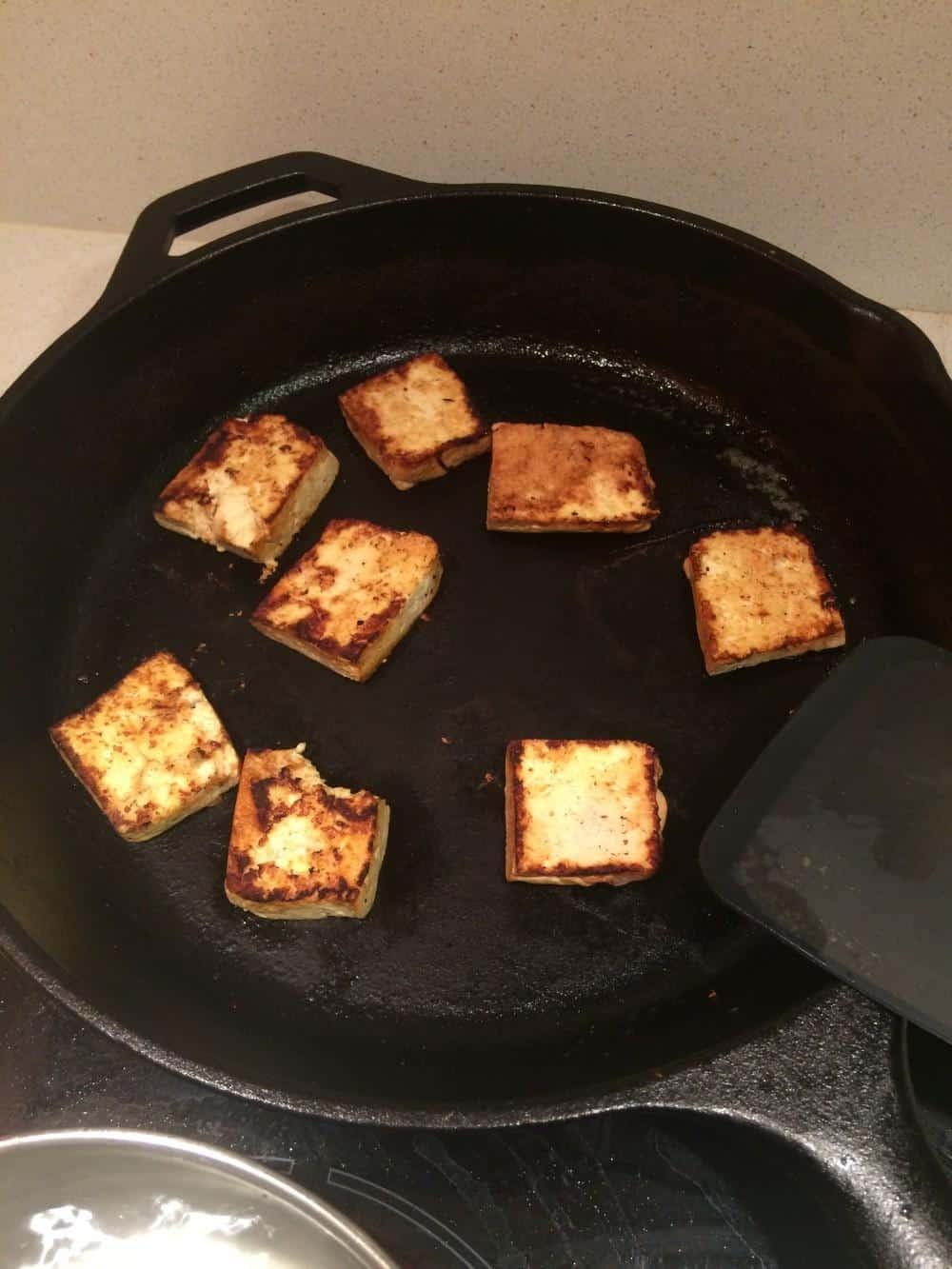 Browning tofu