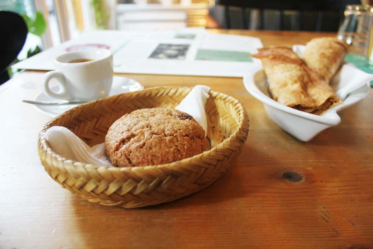 Vegan banitsa and cookie at Sunmoon Bakery Sofia Bulgaria