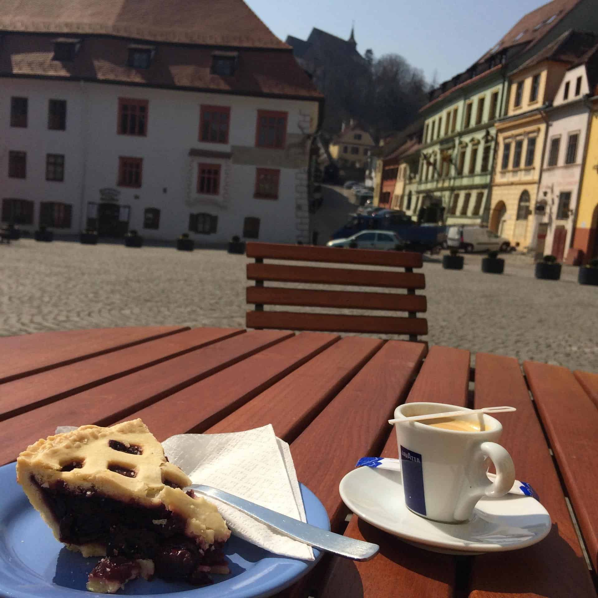 De post cherry pie, Transylvania, Romania