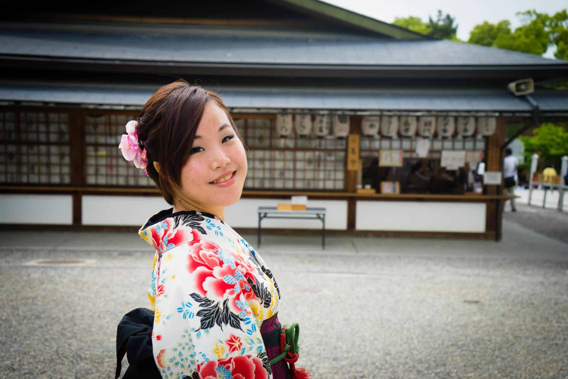 Stephie in Japan (photo by The Caffeinated Vegan)