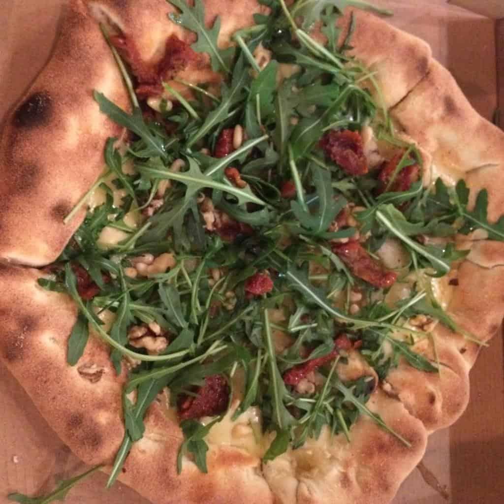 Stuffed crust vegan pizza, Purezza, Brighton
