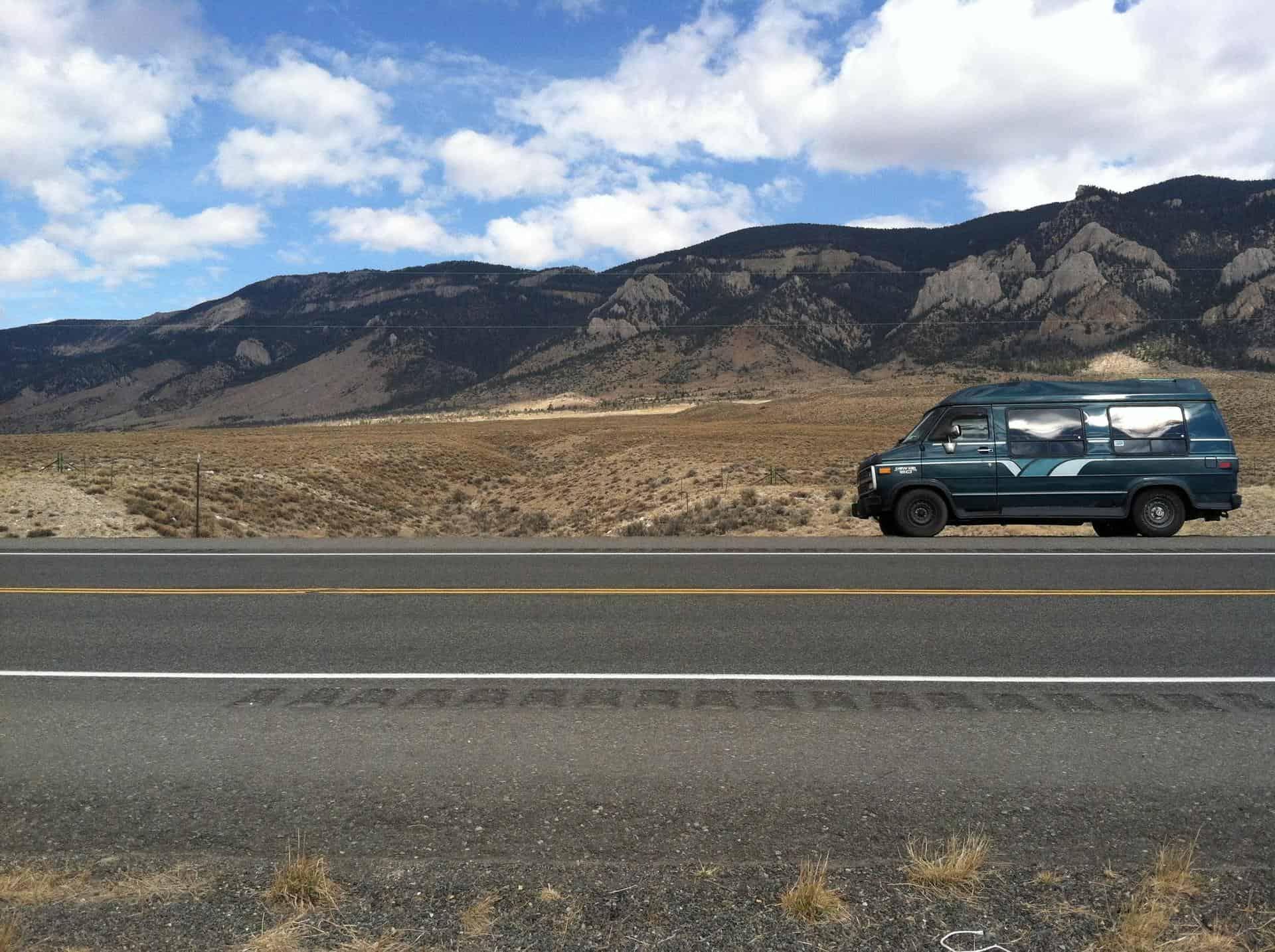 Gerty the van, Wyoming, photo by WTF Vegan Food