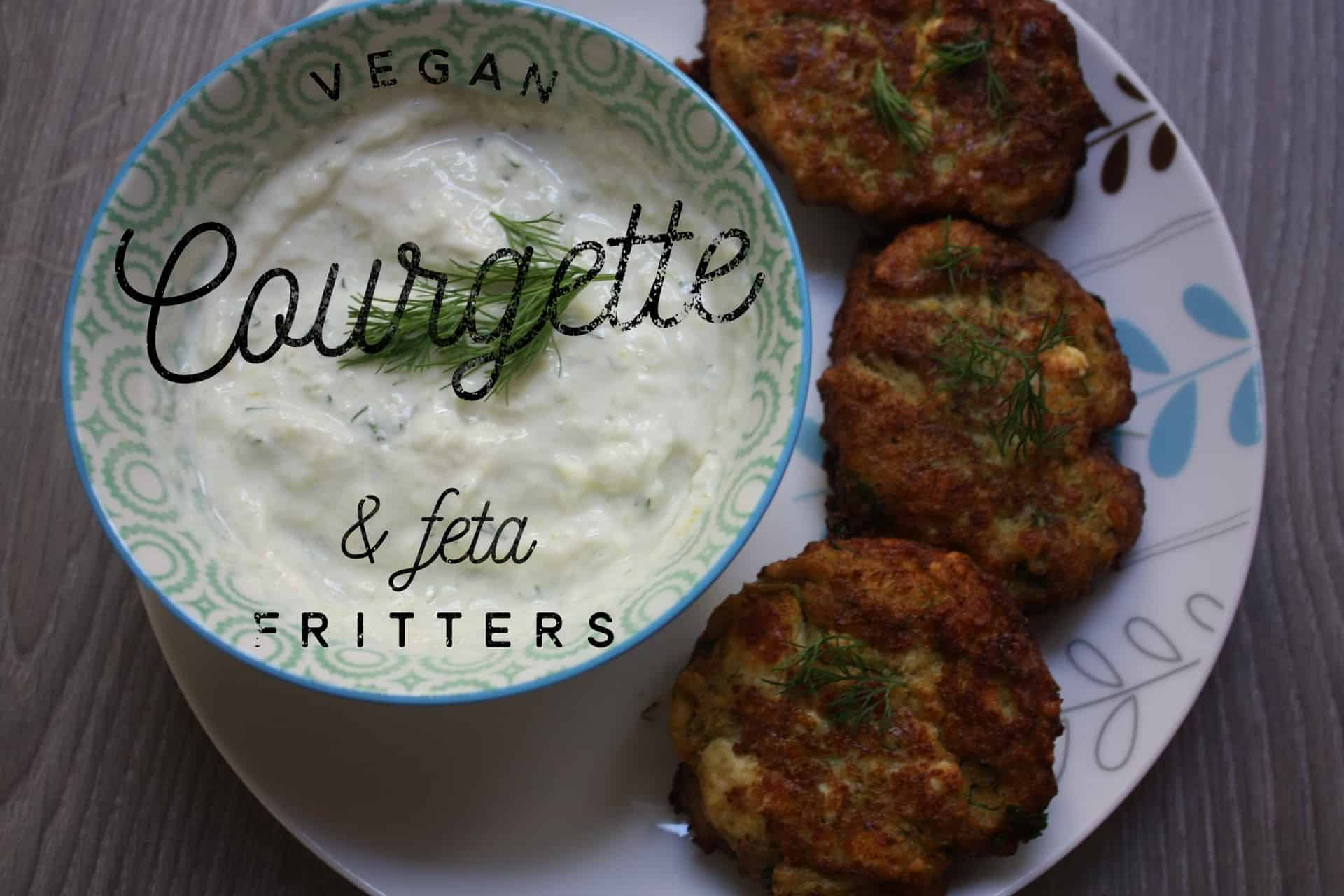 Vegan Courgette and Feta Fritters (Kolokithokeftedes)