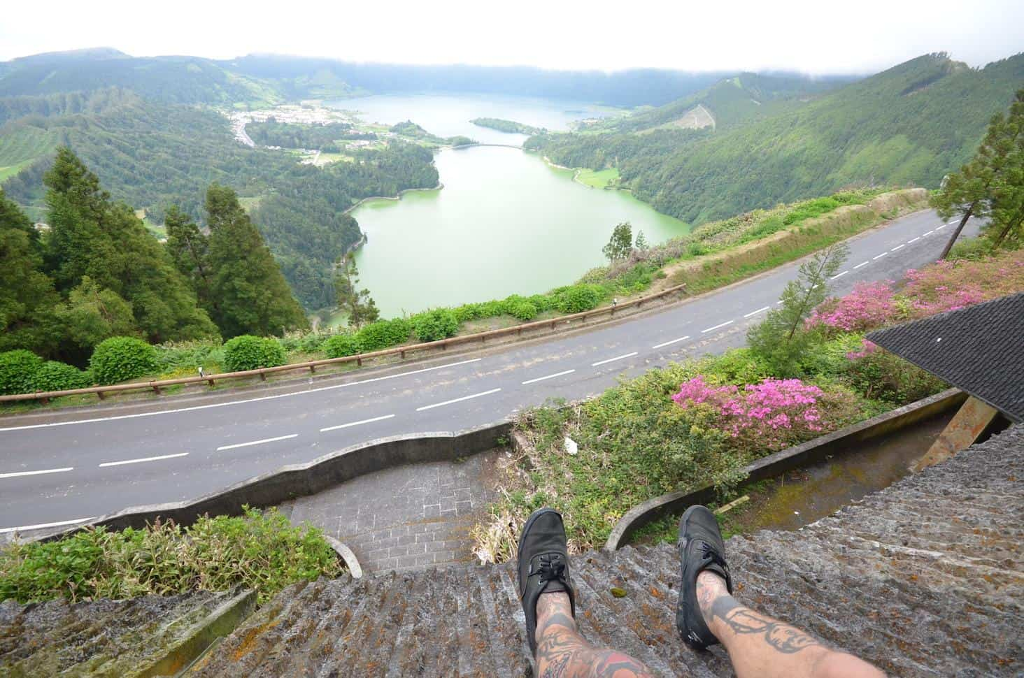 Hanging out above Sete Cidades, Azores, Portugal (Photo by Mindful Wanderlust)