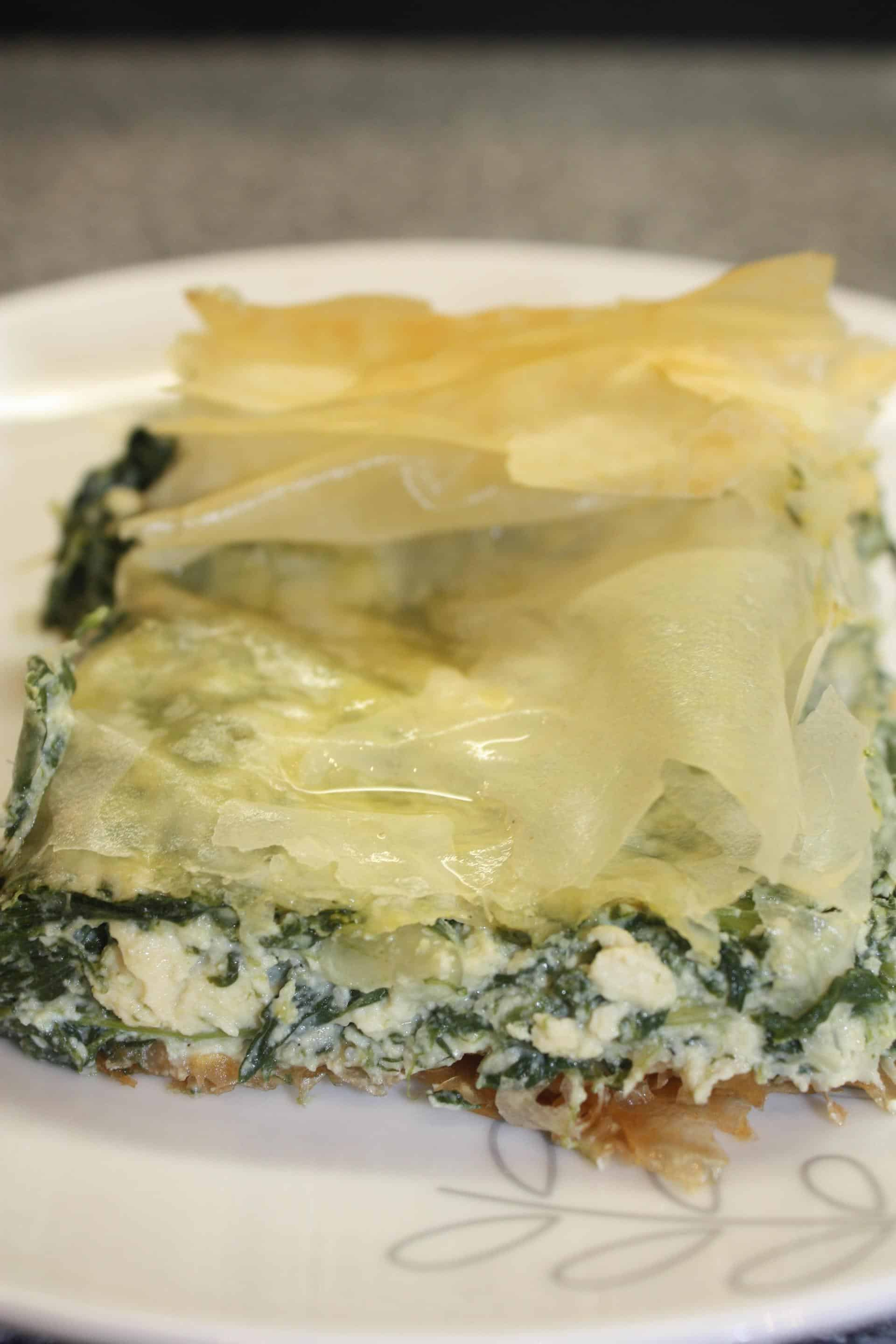 Vegan Greek Feta & Spinach Pie (Spanakopita)