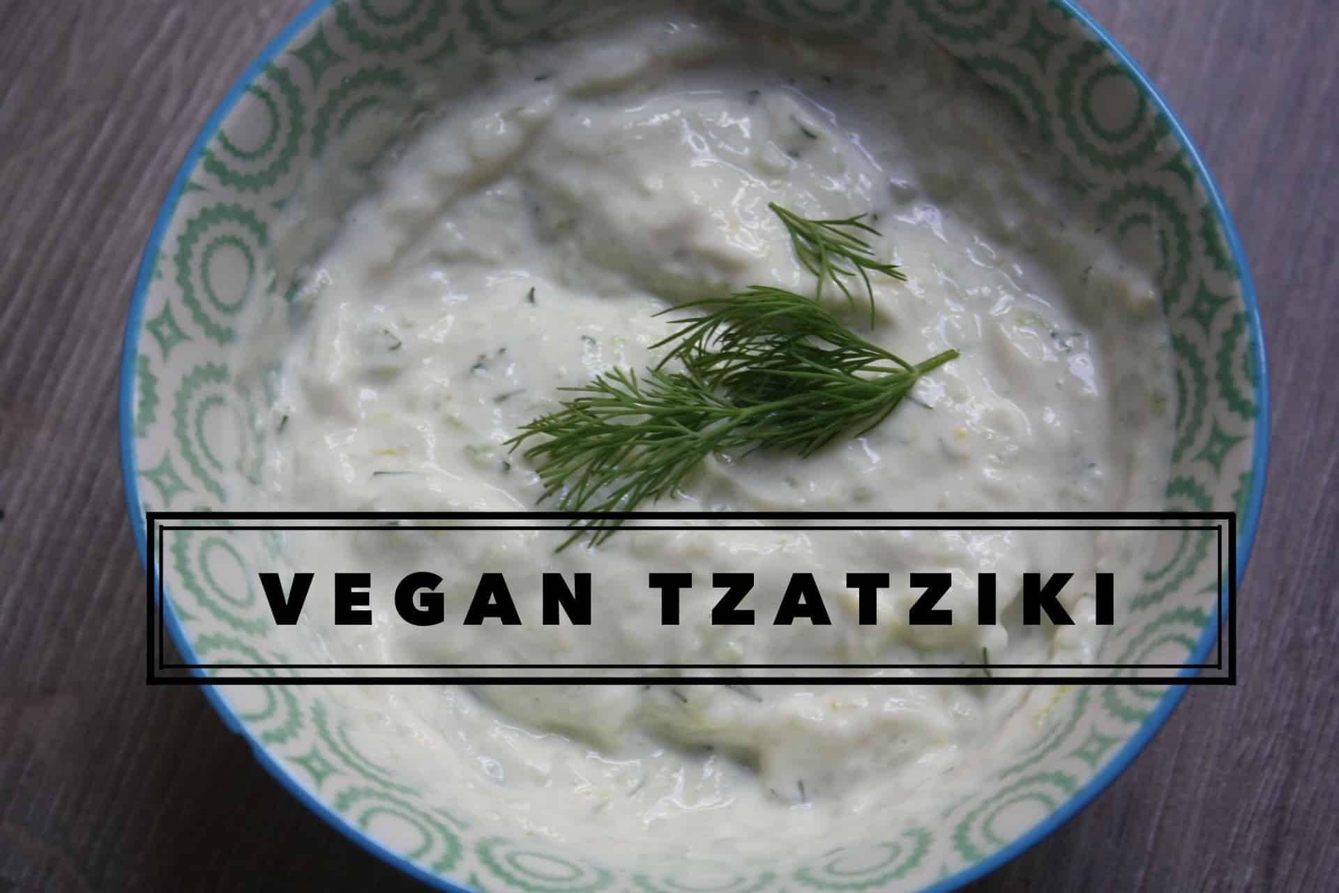 Vegan dairy-free tzatziki