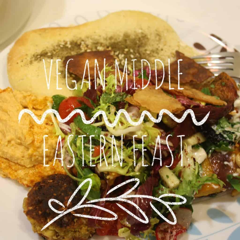vegan middle eastern feast