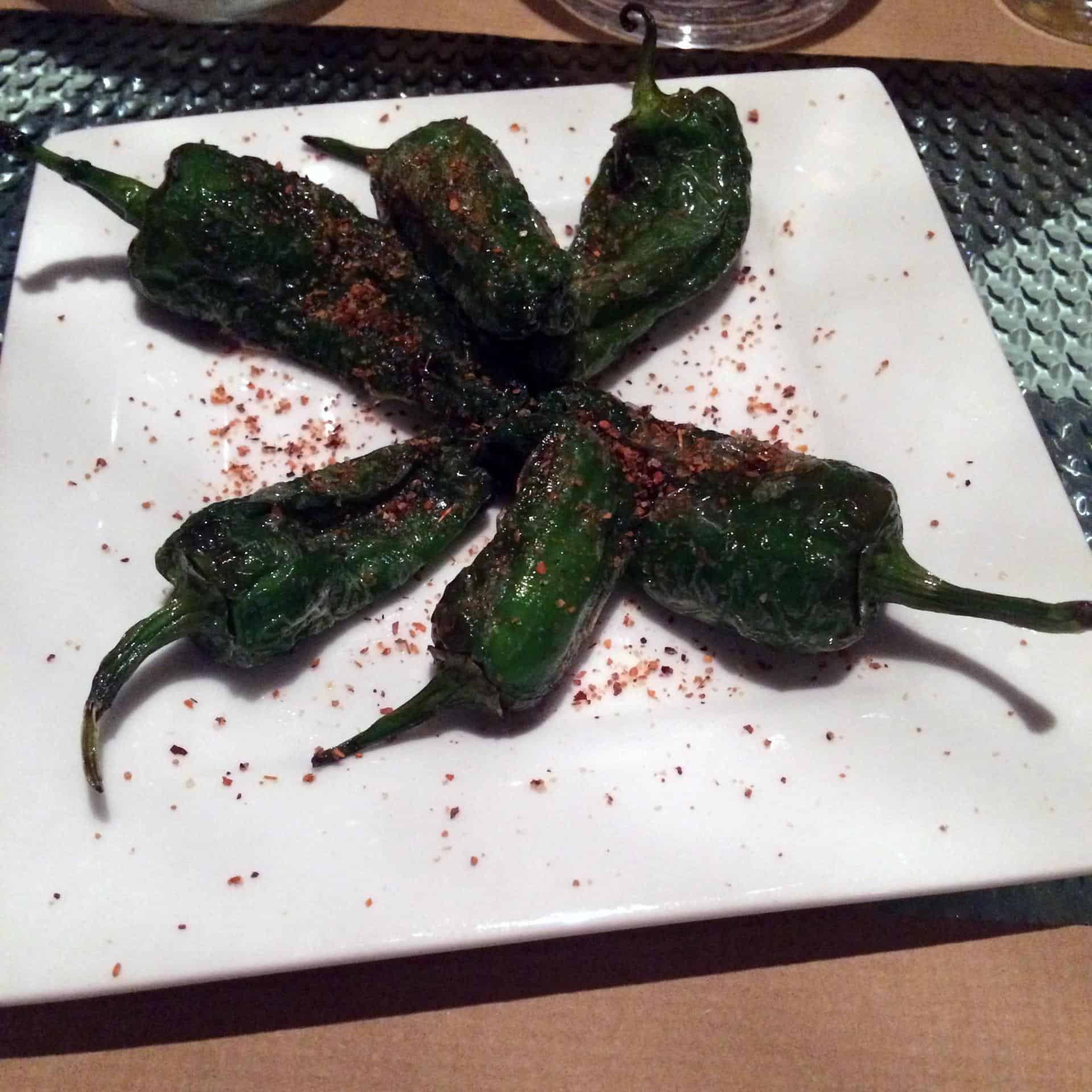 Vegan tapas in Barcelona - Padron peppers