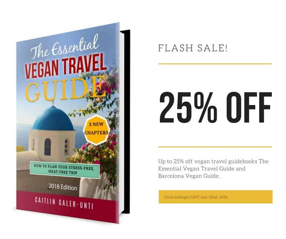 Flash Sale! 25% off The Essential Vegan Travel Guide
