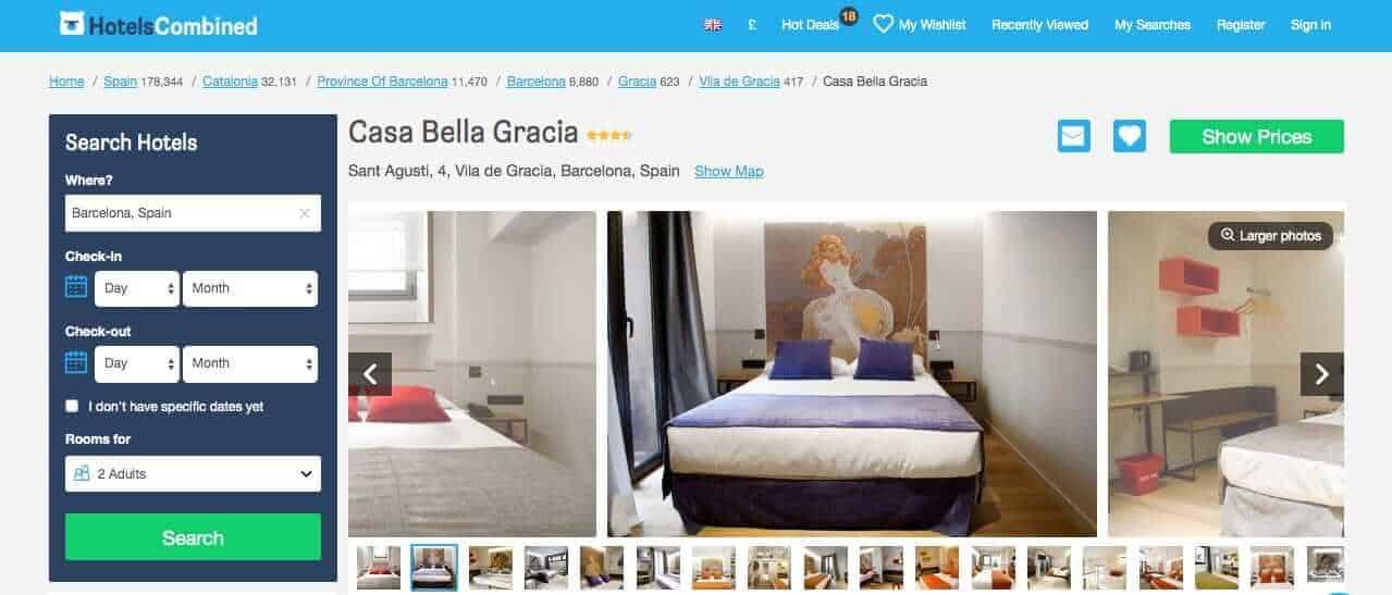 vegan barcelona - hotels - casa bella gracia