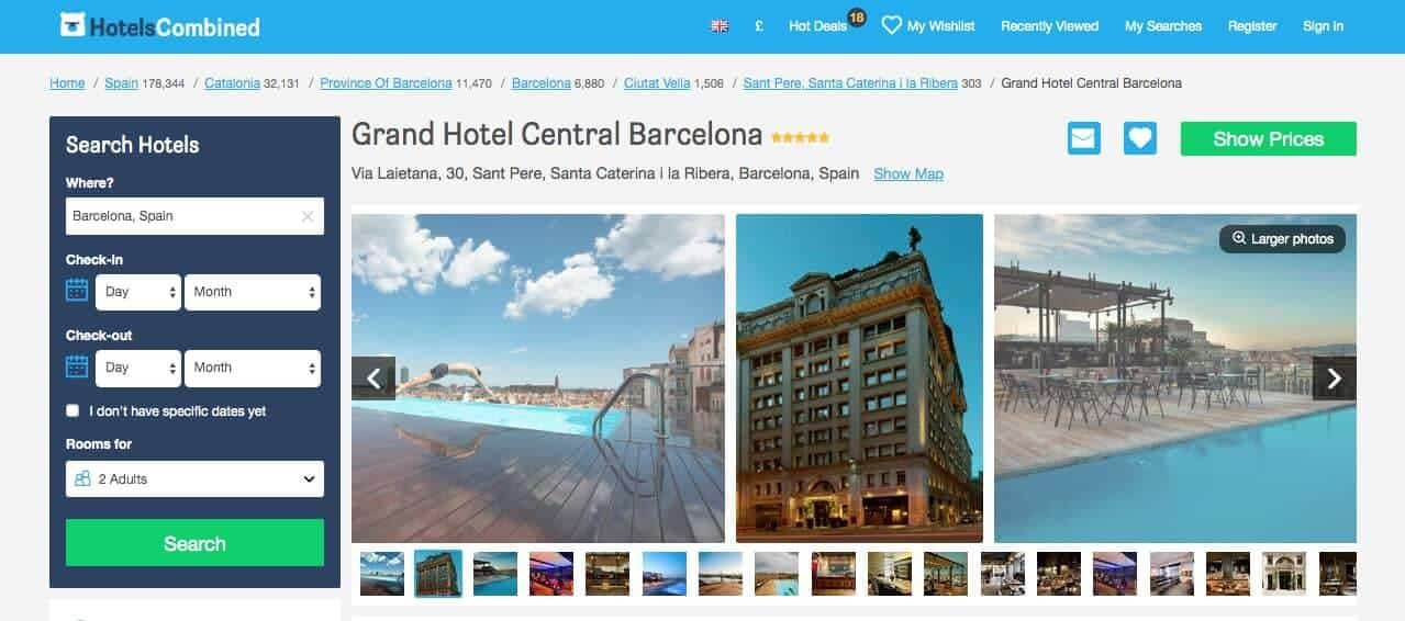 vegan barcelona - hotels - grand hotel central