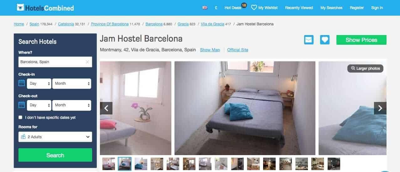 vegan barcelona - hotels - jam hostel