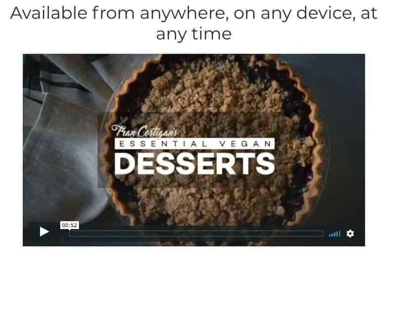 online vegan baking classes - essential vegan desserts fran costigan rouxbe