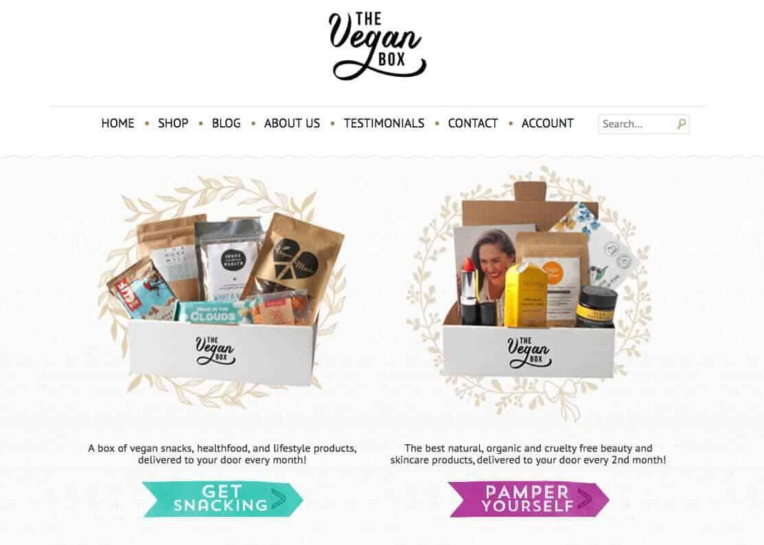 vegan box - the vegan box