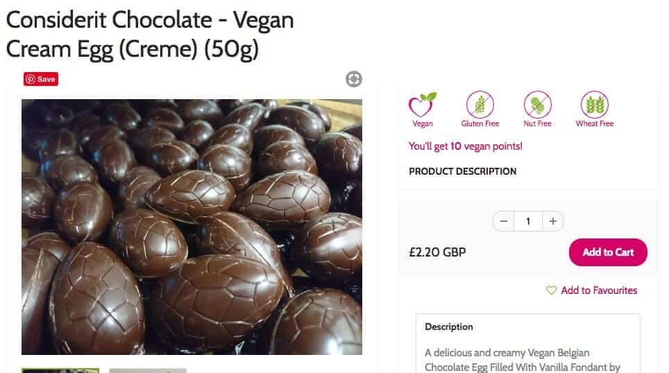 vegan easter eggs - creme eggs