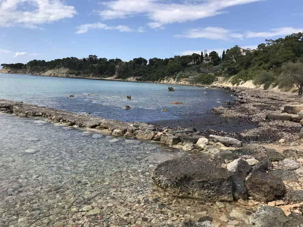 Rocky beach, Aegina, Greece