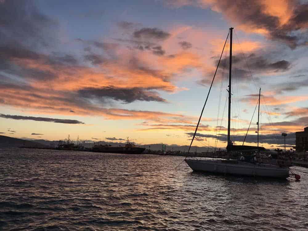 Sunset in Aegina, Greece