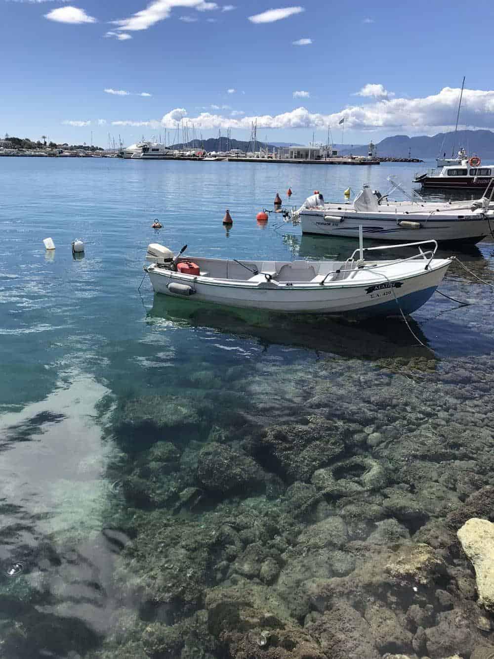 Clear water on Aegina Island, Greece