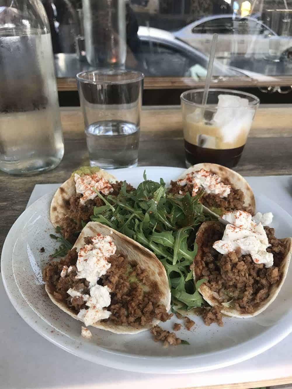 vegan tacos, belray, athens