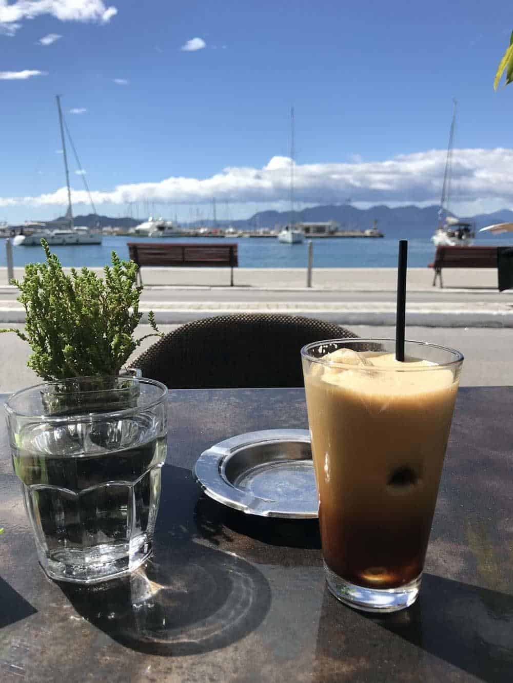 freddo espresso, aegina, greece
