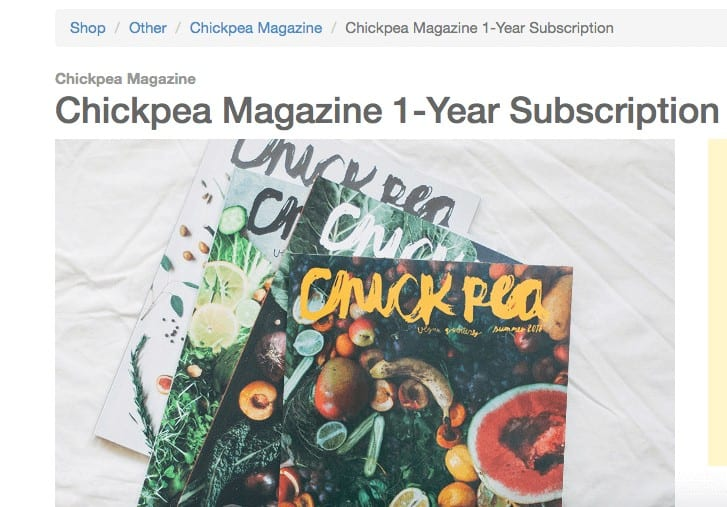 Stack of chickpea magazines