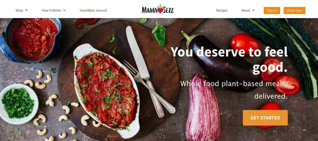 Mama Sezz vegan food delivery