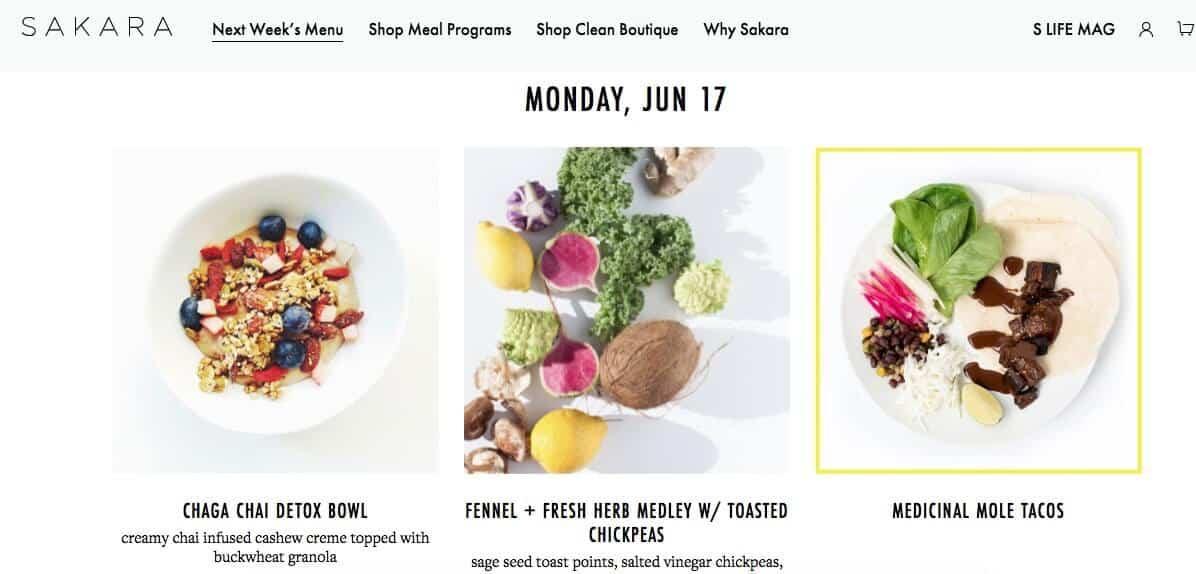 vegan food delivery - sakara