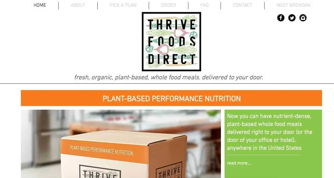 vegan food delivery - thrive foods direct