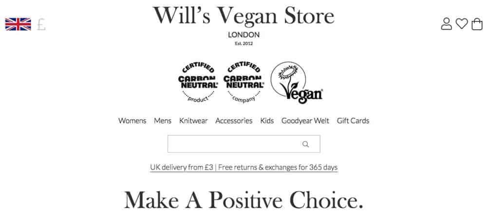 Screenshot of Will's site