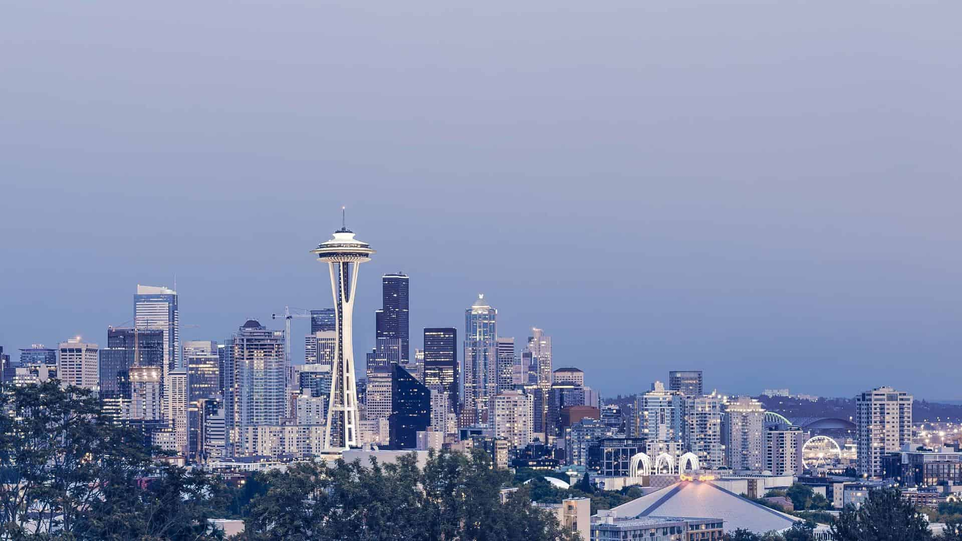 Skyline and the Space Needle building