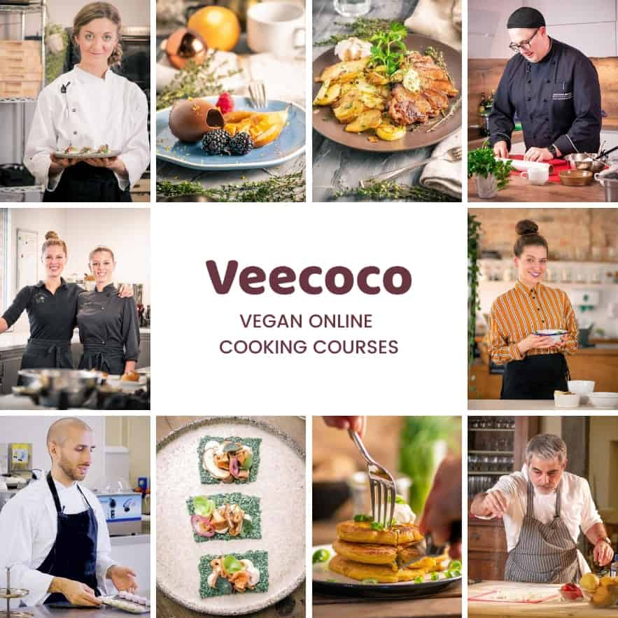 Collage of Veecoco chefs and dishes