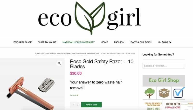Rose gold razor