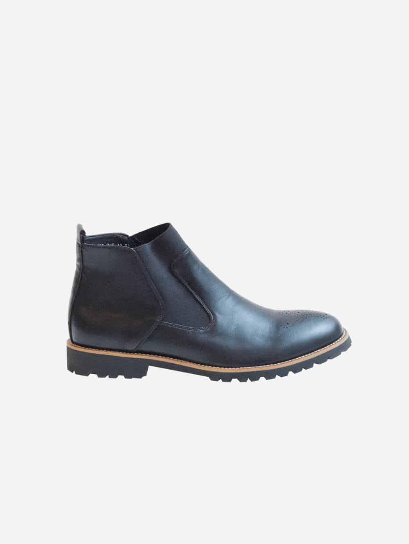 Black vegan leather Chelsea boot